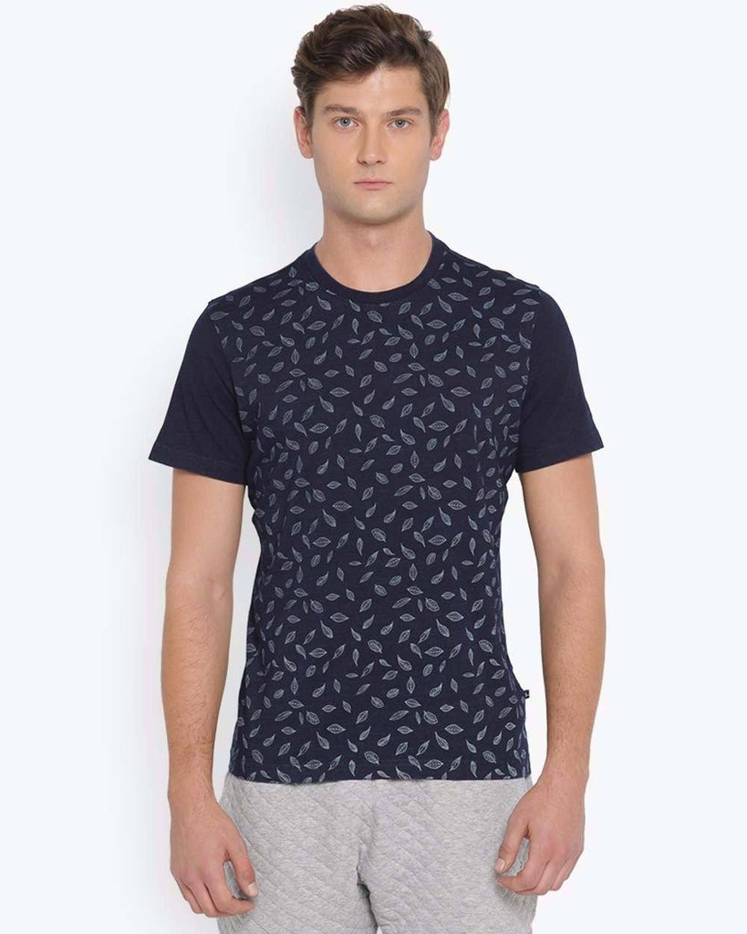 Parx Indigo Regular Fit T-Shirt
