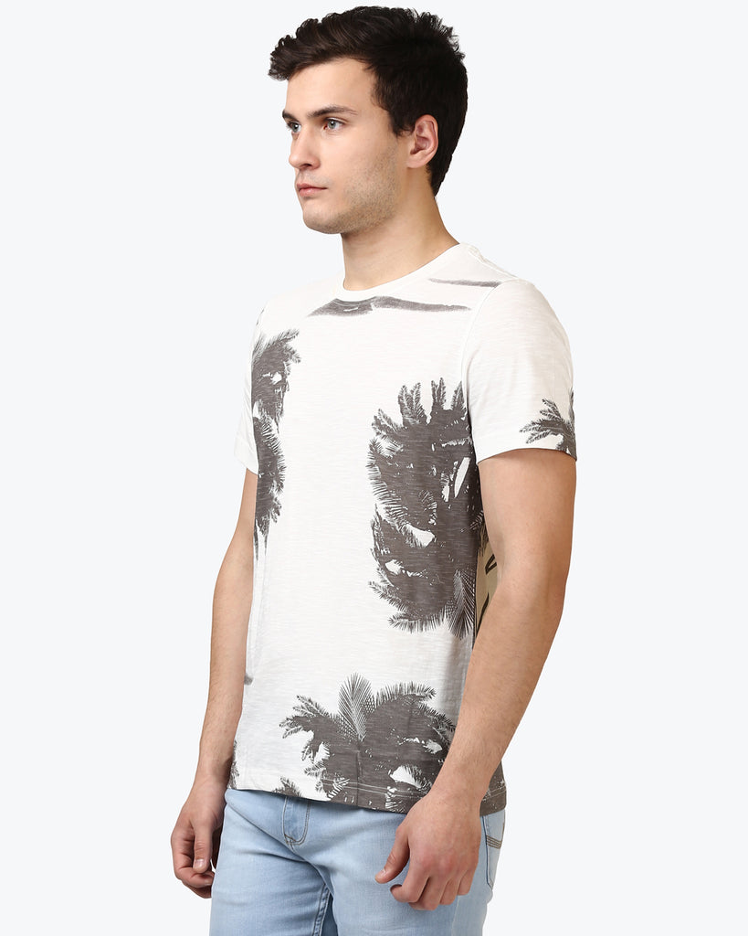 Parx Light Grey Regular Fit T-Shirt