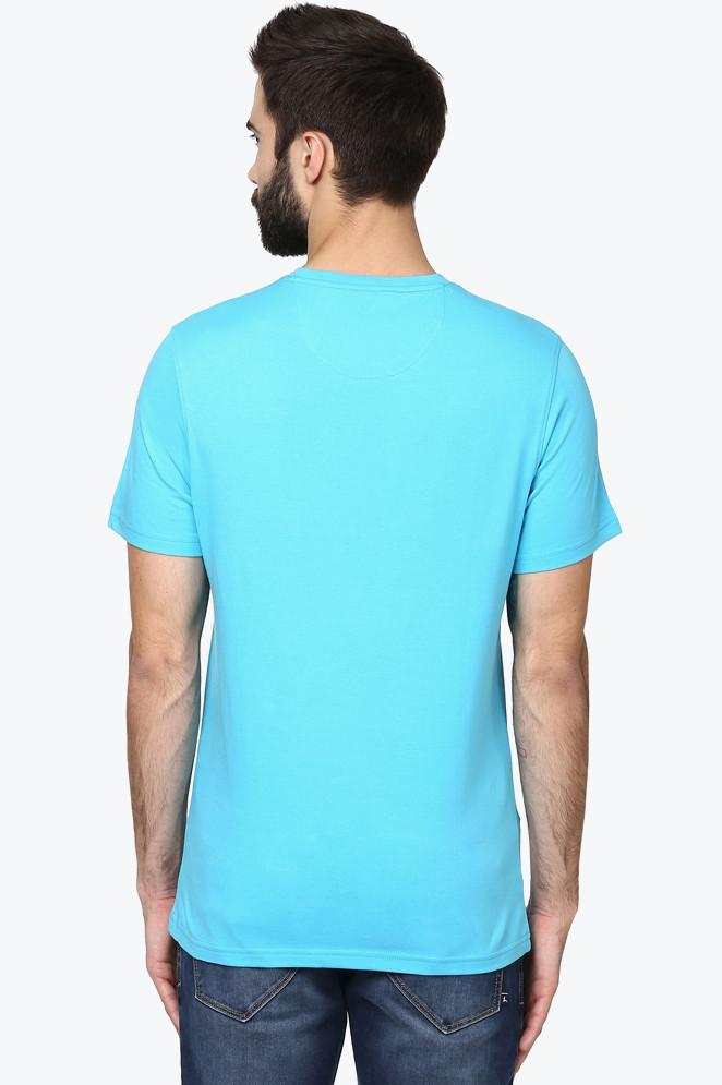 Parx Dark Blue Slim Fit T-Shirt
