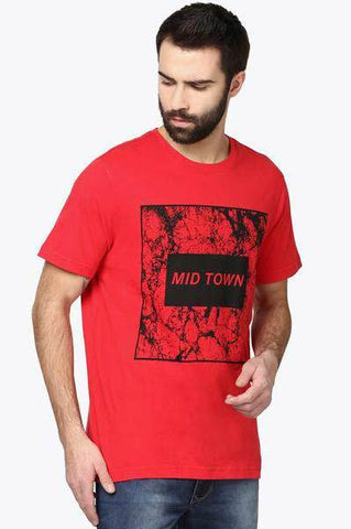 Parx Red Slim Fit T-Shirt