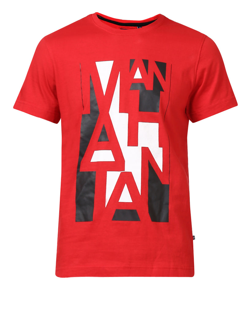 Parx Red Regular Fit T-Shirt
