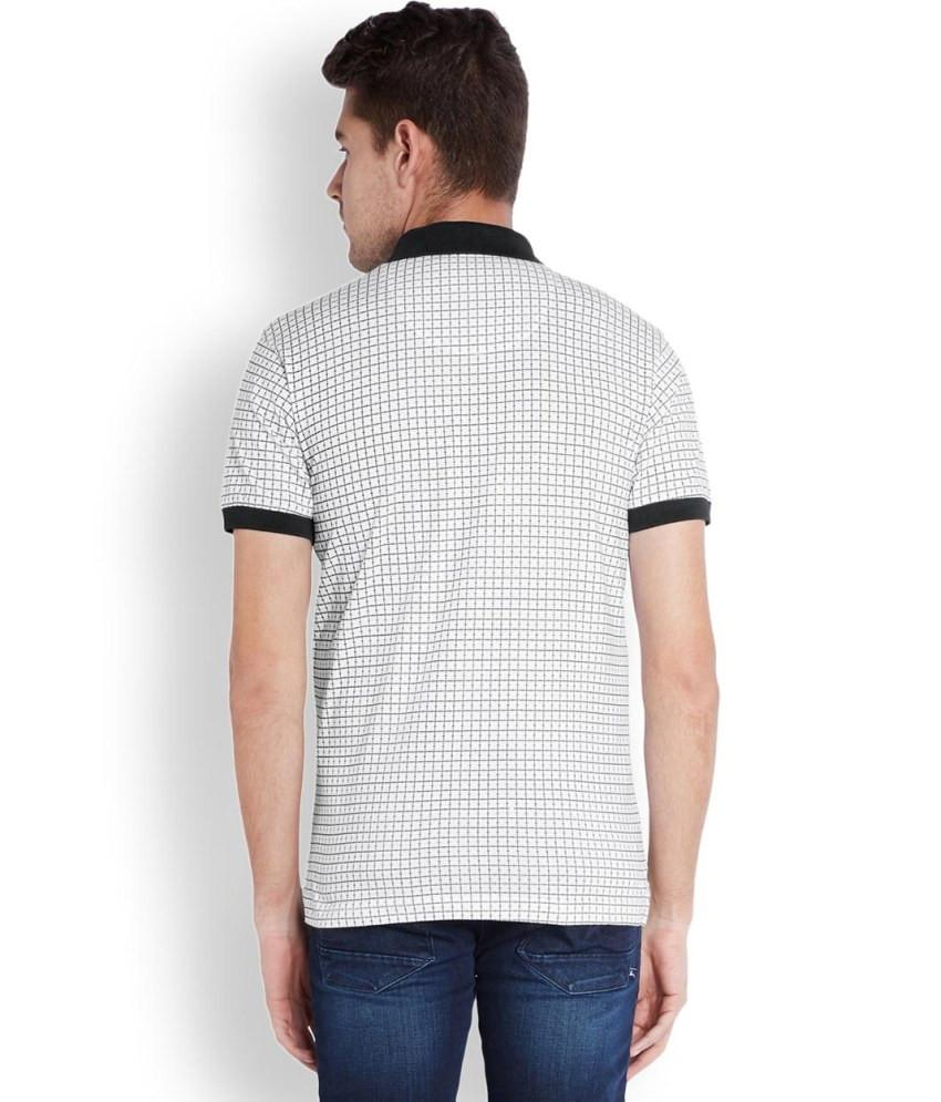 Parx  White Regular Fit T-Shirt