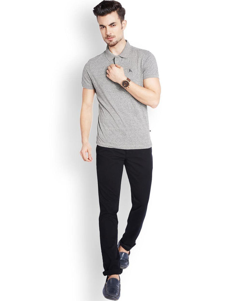 Parx  Grey Regular Fit T-Shirt