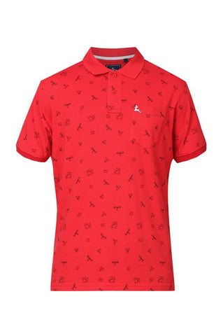Parx Red Regular Fit T-Shirts