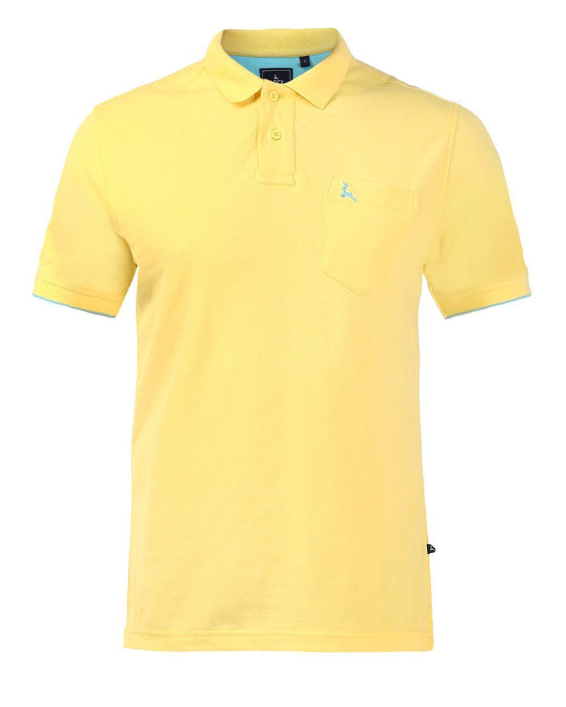 Parx Yellow Regular Fit T-Shirt