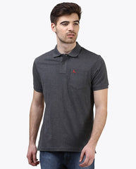 Parx Dark Grey Regular Fit T-Shirt