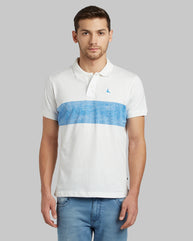 Parx Medium Blue Regular Fit T-Shirt