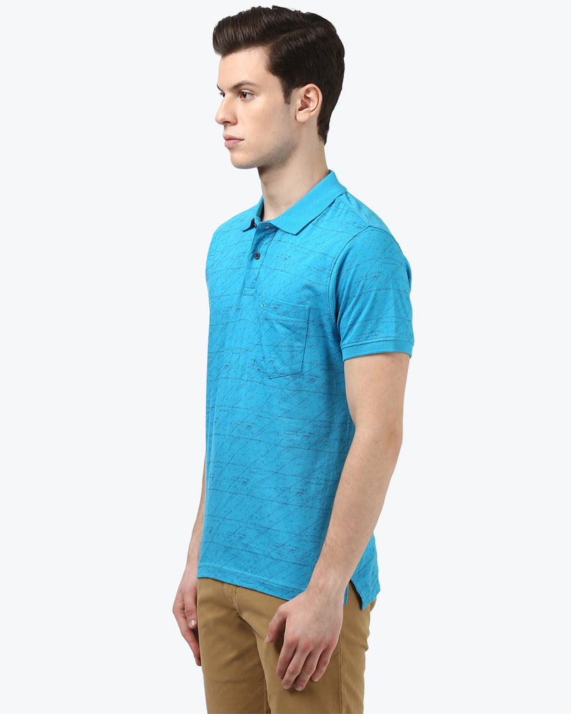 Parx Blue Regular Fit T-Shirt