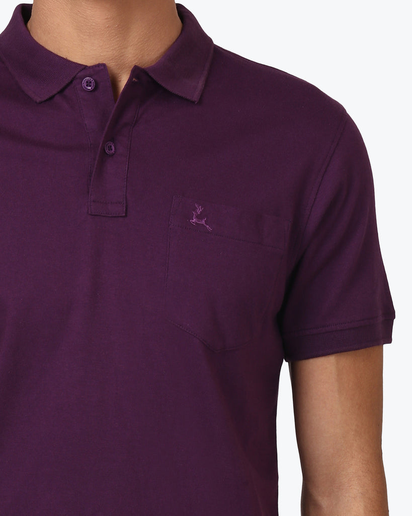 Parx Purple Regular Fit T-Shirt