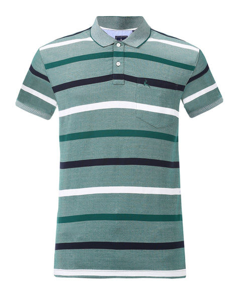 Parx Green Regular Fit T-Shirt