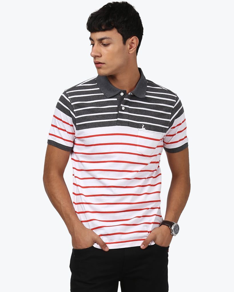 Parx Multicoloured Regular Fit T-Shirt