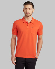 Parx Dark Orange Regular Fit T-Shirt