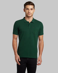 Parx Dark Green Regular Fit T-Shirt