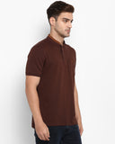 Parx Dark Brown Regular Fit T-Shirt