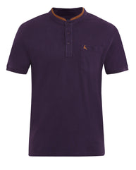 Parx Dark Violet Regular Fit T-Shirt