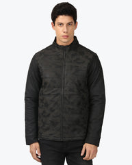 Parx Black Regular Fit Jacket