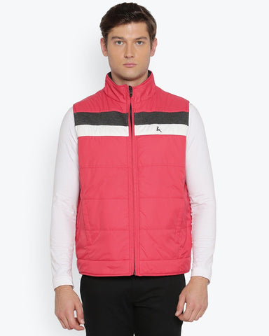 Parx Medium Red Regular Fit Outerwear