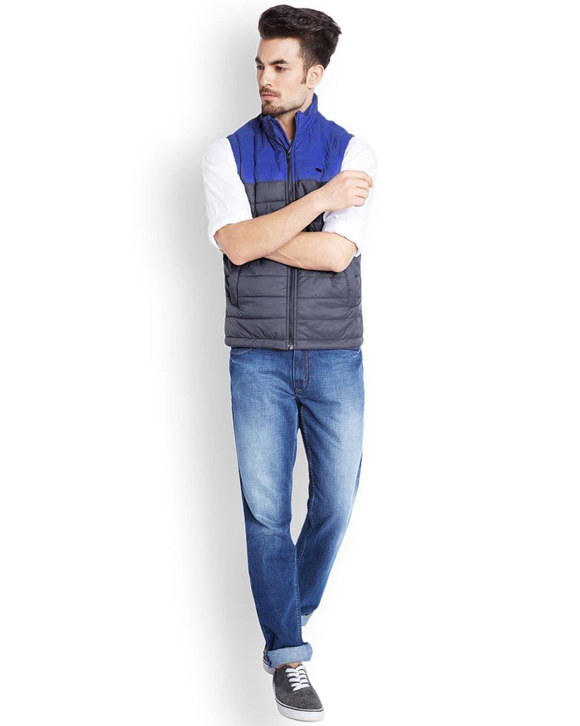 Parx  Blue Regular Fit Outerwear