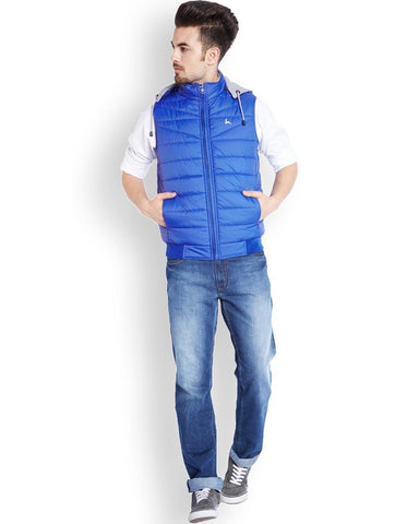 Parx Medium Blue Regular Fit Outerwear