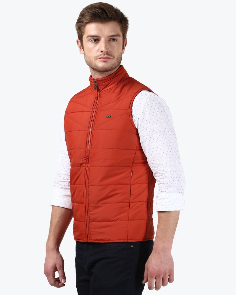 Parx Orange Regular Fit Jacket