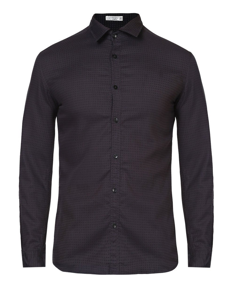 Parx Black Slim Fit Shirt