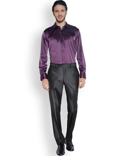 Parx  Purple Slim Fit Shirt