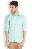 Parx Light Green Slim Fit Shirt