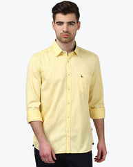 Parx Medium Yellow Slim Fit Shirt