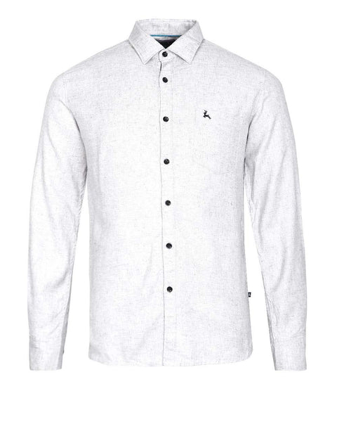Parx Dark Grey Slim Fit Shirt