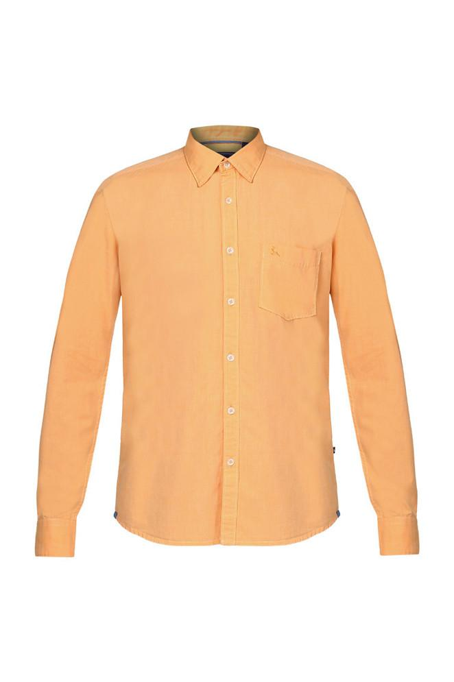 Parx Medium Yellow Slim Fit Shirts