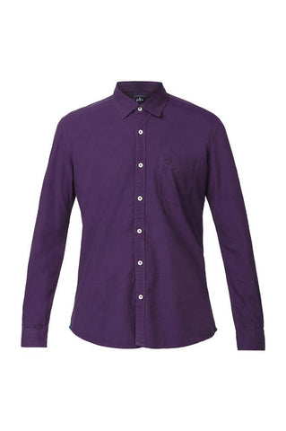 Parx Dark Violet Slim Fit Shirts