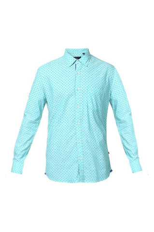 Parx Medium Green Slim Fit Shirts