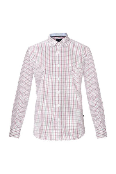 Parx Medium Red Slim Fit Shirts
