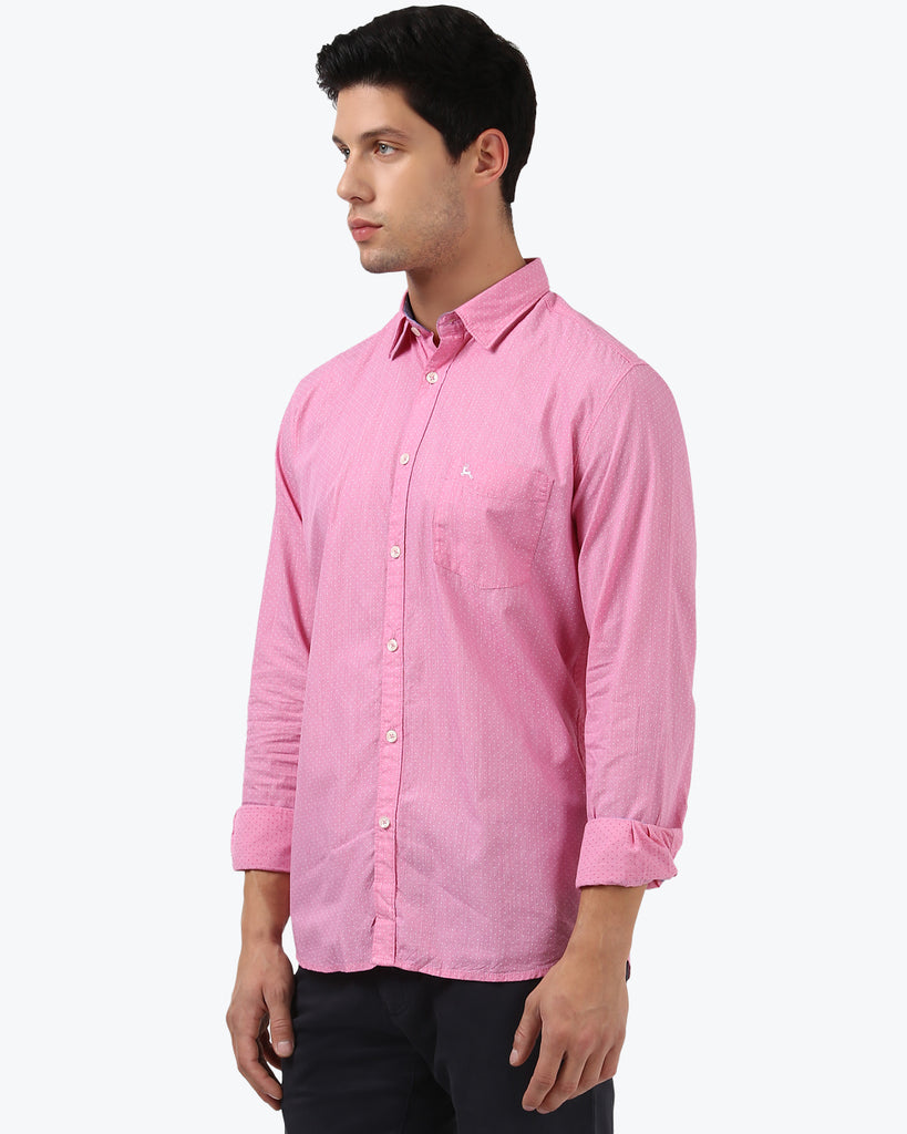 Parx Light Red  Slim Fit Shirt