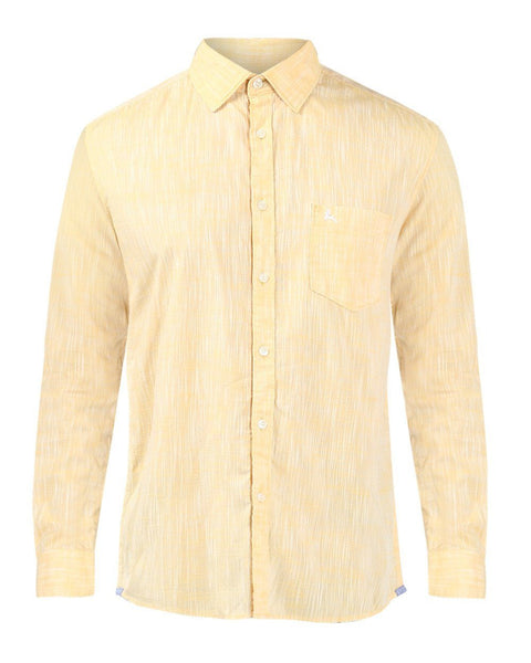 Parx Yellow Slim Fit Shirt