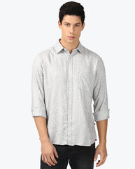 Parx Light Grey Slim Fit Shirt