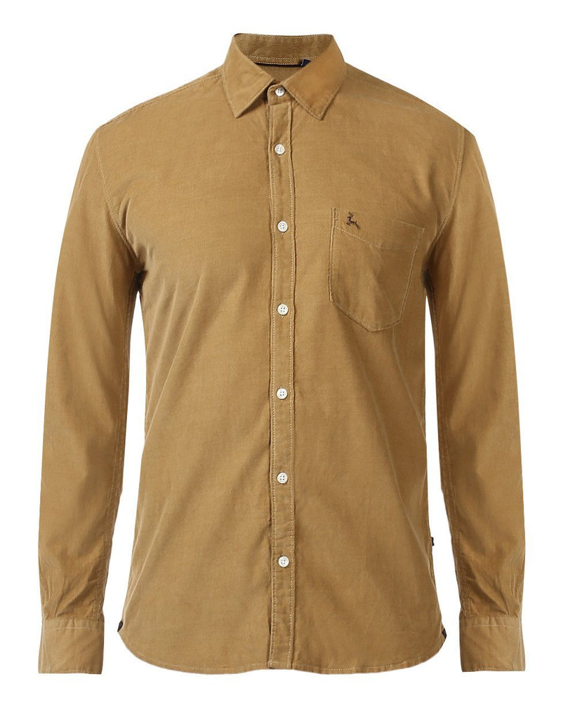 Parx Brown Slim Fit Shirt