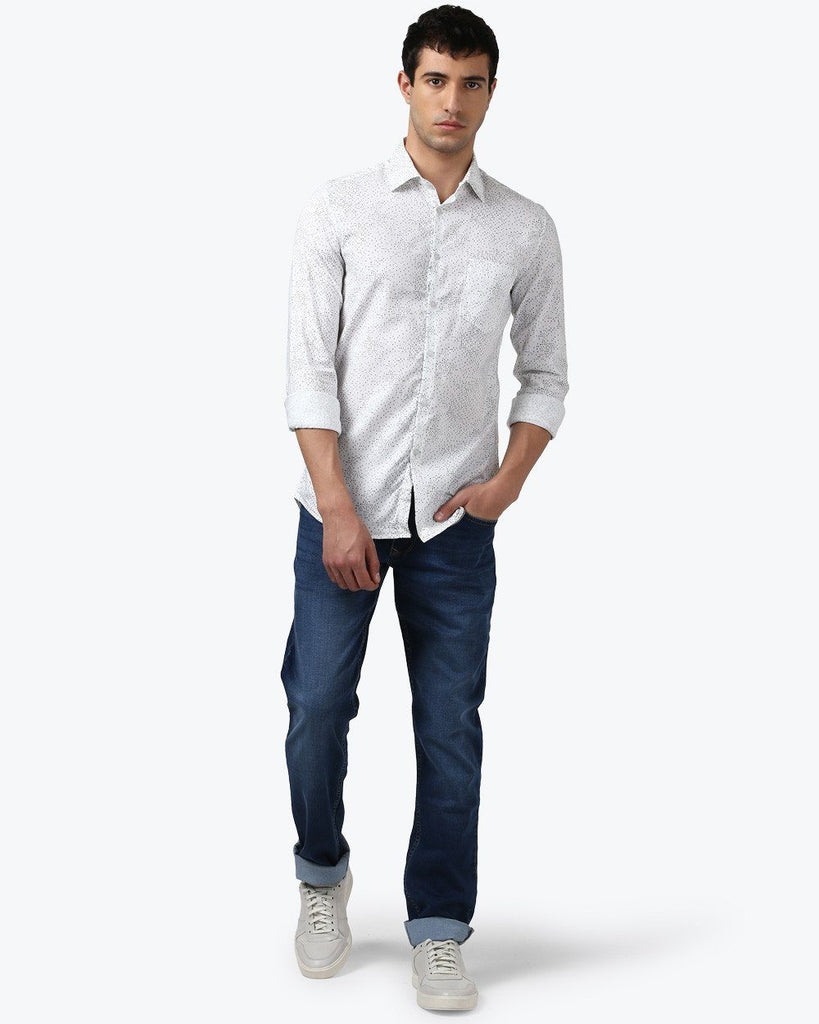Parx White Slim Fit Shirt