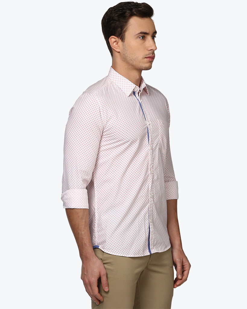Parx Off-white Slim Fit Shirt