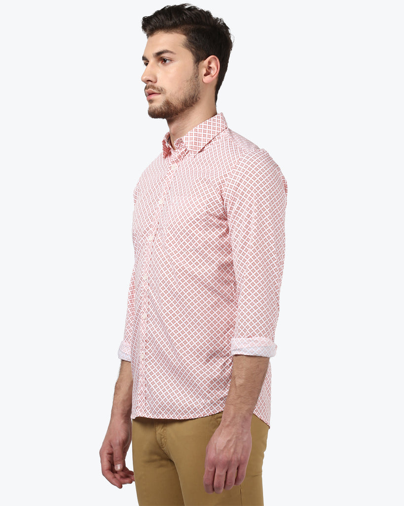 Parx Orange Slim Fit Shirt