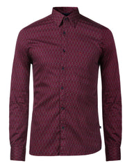 Parx Dark Violet Slim Fit Shirt