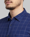 Parx Light Blue Slim Fit Shirt