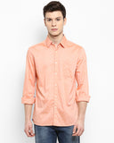 Parx Peach Slim Fit Shirt