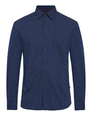 Parx Navy blue Slim Fit Shirt