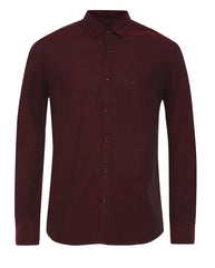 Parx Maroon Slim Fit Shirt