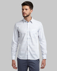 Parx Blue Regular Fit Shirt