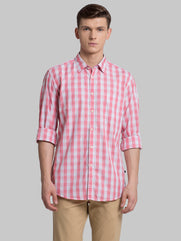 Parx Light Orange Slim Fit Shirt