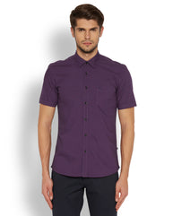 Parx Fancy Violet Slim Fit Shirt