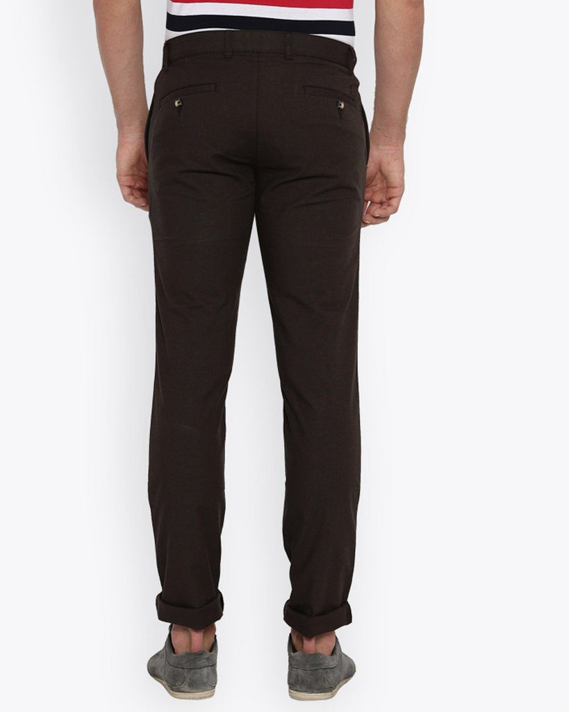 Parx Dark Brown Tapered Fit Trouser