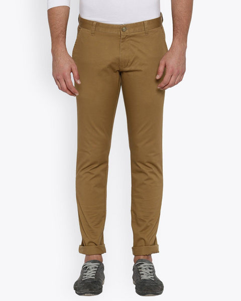 Parx Dark Khaki Tapered Fit Trouser